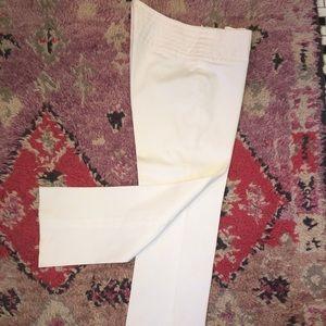Theory pure white stretch cotton capris 4